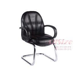 ~M434~16~洽談椅 ^(黑皮 電鍍^)