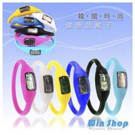 【Q禮品】B0329 負離子自行車運動電子手錶/腕表 超輕量防水 流線造型,最佳贈禮品!!