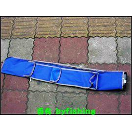 ◎百有釣具◎  台灣製帆布 竿袋 直型3尺~ 1大格+1中格+1小格.超輕便