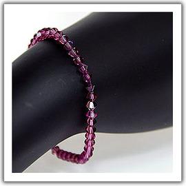 深紫色,Swarovski 施華洛士奇奧地利水晶手鍊