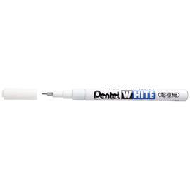 Pentel 飛龍 X100W~F  WHITE 白色油漆筆 ~ 極細 0.5mm  支