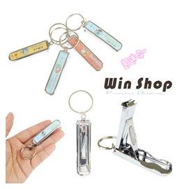 【Q禮品】超可愛韓系俏皮12星座圖案鑰匙圈指甲剪/銼刀/隱藏式/美容修容組