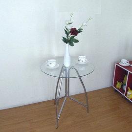 65公分(高)透明強化玻璃-餐桌/洽談桌/玄關桌-TBG60H75B