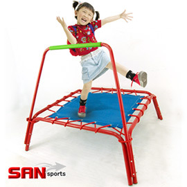 【SAN SPORTS 山司伯特】扶手方形彈跳床.健身.運動 C144-A45