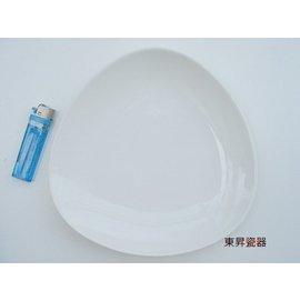 東昇瓷器餐具 大同強化瓷器全黑三角取盤^(中^) P2483~D~BK~A