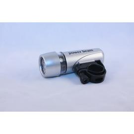 超亮多功能5Led手電筒/超亮 銀色 防水 自行車 二段 5顆 LED車燈