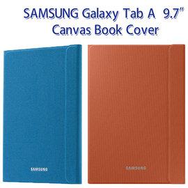 【東訊公司貨-原廠翻頁皮套】SAMSUNG Galaxy Tab A 9.7吋 SM-P550/P555Y 帆布書本式保護套/智能休眠側掀