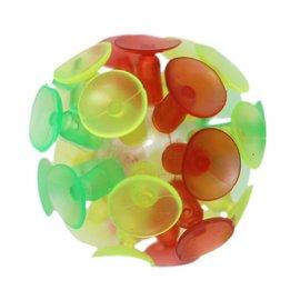 吸盤球 玻璃吸盤球 黏黏球 粘粘球童玩 直徑6cm 一袋12個入^~定15^~