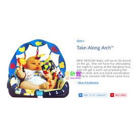 【HH婦幼館】Tiny Love音樂海洋弓型掛飾.手推車/汽座/嬰兒床適用.原廠手提裝