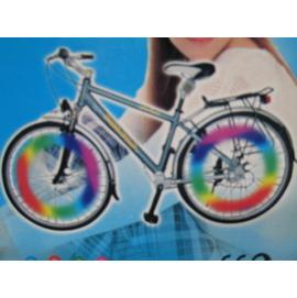 自行車腳踏鋼絲感光5顆彩光LED/反光片/新風火輪
