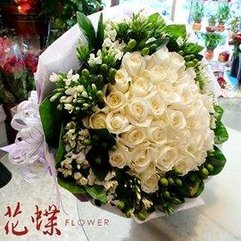 台北101商圈花蝶 花店^~50朵玫瑰花束^~世界無敵宇宙超級浪漫重量級的愛都給你