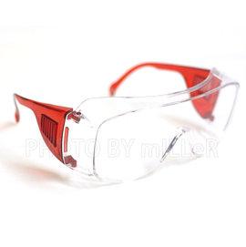 ~米勒線上 ~~A011~安全眼鏡 可與近視眼鏡同時配戴 防顆噴濺 耐衝擊 包覆式