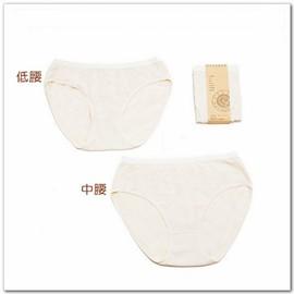 知蓮有機棉~米色有機棉女內褲 200元 1入~合身好穿舒服 ,特別採用四面彈性織布,有機棉