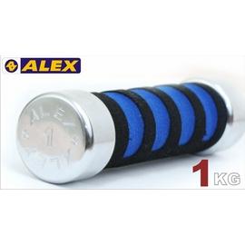 ≡排汗專家≡【A-0101】德國品牌ALEX-新型泡棉啞鈴-重量規格:1KG(健身 塑身 健美 強化訓練)