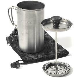 【日本 Snow Peak】Titanium SP鈦金屬咖啡壓濾杯_3杯份咖啡壺(Cafe Press 3 Cups _附收納袋.僅280g)適煮咖啡 泡茶壺/CS-111