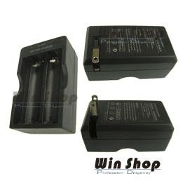 【winshop】18650電池充電器旅充,強光LED手電筒專用充電器!摺疊收納插頭