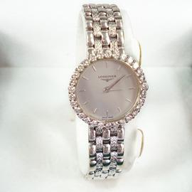 ~9成新~ LONGINES 浪琴錶 閃耀18K鍍金鑽石手錶 收藏品 割愛 價 78 00
