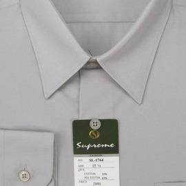 mustBUY ~加大 ~S17系列男性 素面長袖襯衫 S1764 淺灰色 ^(YN 男加