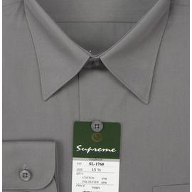 mustBUY ~加大 ~S17系列男性 素面長袖襯衫 S1768 深灰色 ^(YN 男加