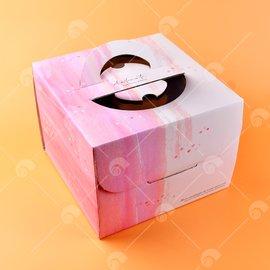 【艾佳】手提6吋蛋糕盒(含金盤)/個