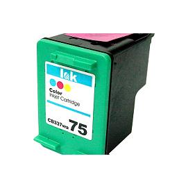 HP CB337WA  No.75 相容環保墨水匣^(彩色^)  HP D4260 D43