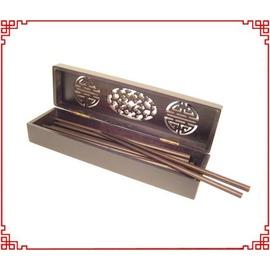 精緻中國風 木筷盒組/高質感木筷+木盒組~可當臥香盒!◇/中國風筷子