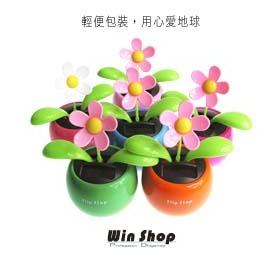 【Q禮品】B版輕便包裝日系可愛療癒系小花植物盆栽,不用電池只靠太陽能就會擺動,汽車居家裝飾超可愛