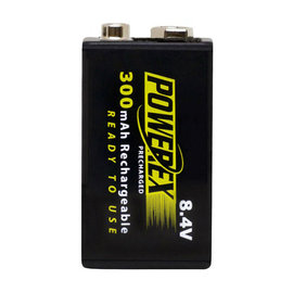 MAHA-POWEREX 9V鎳氫300mAh充電池MH-84V300★高容量★壽命長★免運費