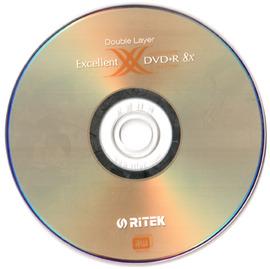 ~~貓太太~~RITEK 8X DVD R 8.5GB DL^(10片布丁桶裝^)
