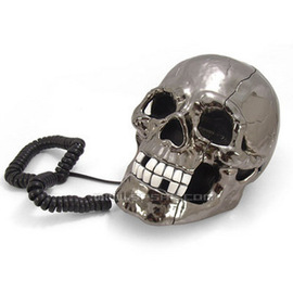 銀色骷髏電話~5個起批~C0042