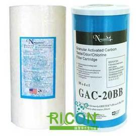 水塔濾水器專用濾心10吋大胖5M PP纖維濾芯+UDF顆粒活性碳濾心