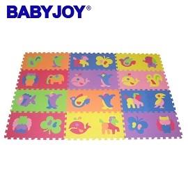 A0699~BABY JOY~ZOO動物安全地墊^(26片^)