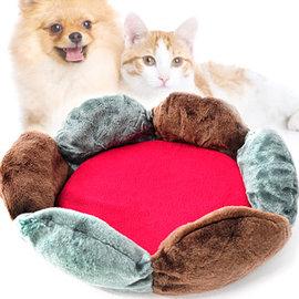 花型兩用寵物睡床C99-0213 (寵物睡窩寵物睡墊保暖墊.狗窩狗睡床狗睡墊貓床貓窩軟墊.秋冬寵物用品百貨.推薦哪裡買)