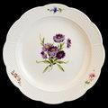 ~翡冷翠~德國麥森Meissen浮雕花卉系列瓷盤∼31cm瓷盤∼
