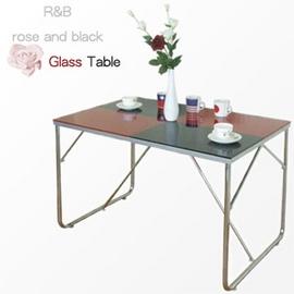 (雙彩)強化玻璃桌 P065-TB70110BG-RD.客廳家具.桌子.傢俱,家具,傢具,家俱,室內桌.桌子.特賣會