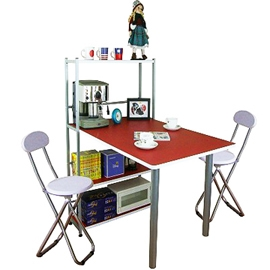 [120公分寬]4 層置物架型-餐桌 P065-TB60120T4C2-RW 客廳家具.桌子.傢俱,家具,傢具,家俱,室內桌.桌子.特賣會