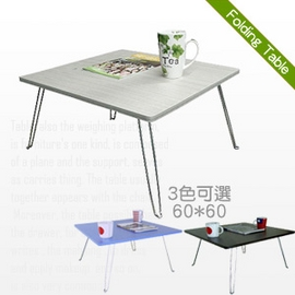【樸實】中桌面60*60[美耐皿板面]折疊桌 P065-TB6060C .折合桌.傢俱,家具,傢具,家俱,室內桌.桌子.特賣會