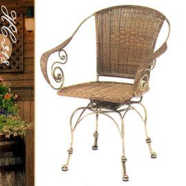 典雅扶手旋轉椅 P020-HC-318 (休閒藤椅子.造型藤編椅.創意籐椅.咖啡旋轉椅.麻將轉椅.餐廳椅.客廳椅.庭園椅.傢俱家具傢具特賣會)