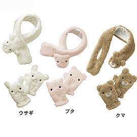 ~日單~超古錐珊瑚絨動物 圍巾vs手套^(80~120cm^)^(難得有分 ^)