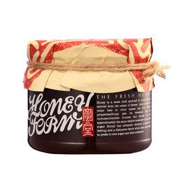 蜜堂HoneyFarm手作蜂蜜系列~紅肉李蜂蜜~400g 玻璃瓶裝
