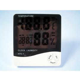 時尚造型*大字幕*電子式溫溼度計HTC-1 數位式帶時間溫溼度計、溫度計、溼度計、日期、時鐘、鬧鈴
