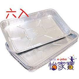 ~怡家寶~411鋁箔烤盤^(六入^) 錫箔紙 蛋糕模型 烤肉鋁箔盤 烤肉用品 露營用品 桶