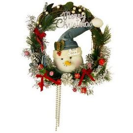 17~1204雪人頭銀蔥 聖誕藤圈