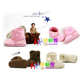 【HH婦幼館】韓國官網熱賣星星兒童雪靴/保暖靴/學步鞋/反折靴.15-18.5cm