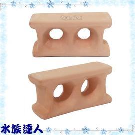 【水族達人】《陶瓷磚塊.小(6.8x2x3.2cm)》小魚、短鯛的最愛!
