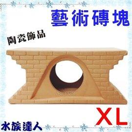 【水族達人】陶瓷《單孔藝術陶瓷磚12.5*5.5*5.5cm》裝飾、魚兒躲藏、產卵 陶瓷磚塊