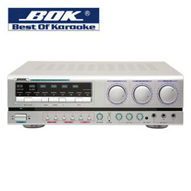 BOK 遙控專業卡拉OK歌唱擴大機 180W+180W( KA-6500R(MP3) )可升降key