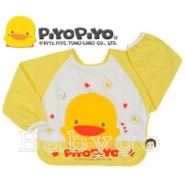 ~babygo~黃色小鴨長袖餵食圍兜
