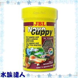 【水族達人】JBL《Guppy孔雀魚專用薄片飼料.100ml》小型觀賞魚皆可食用 健康、營養、美味!