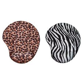 ZOO 豹紋 斑馬紋 矽膠舒適滑鼠墊^~ 矽膠 ^~人體工學